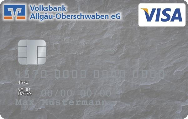 """VBAO-FreeCard (Kreditkarte) - """"Schiefer"""""""