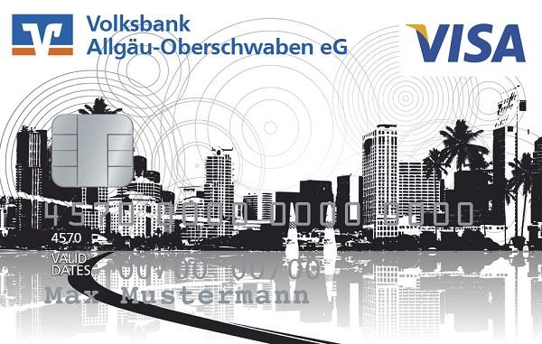 """VBAO-FreeCard (Kreditkarte) - """"Skyline"""""""
